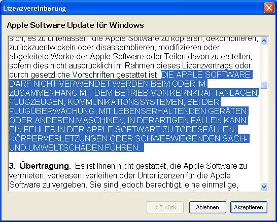 iTunes eula